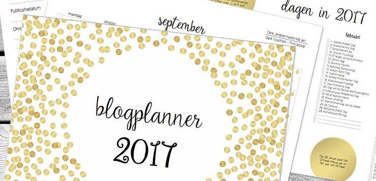 Ze zijn er! De blogplanners voor 2017