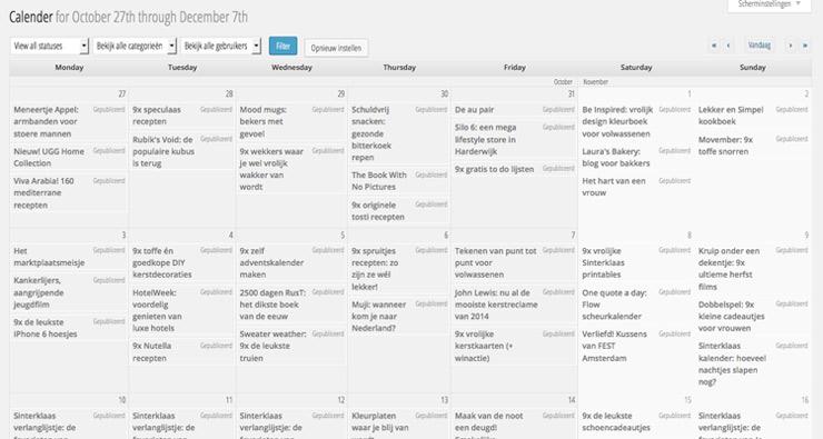Blog kalender
