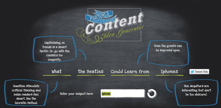 Blog ideeën generator